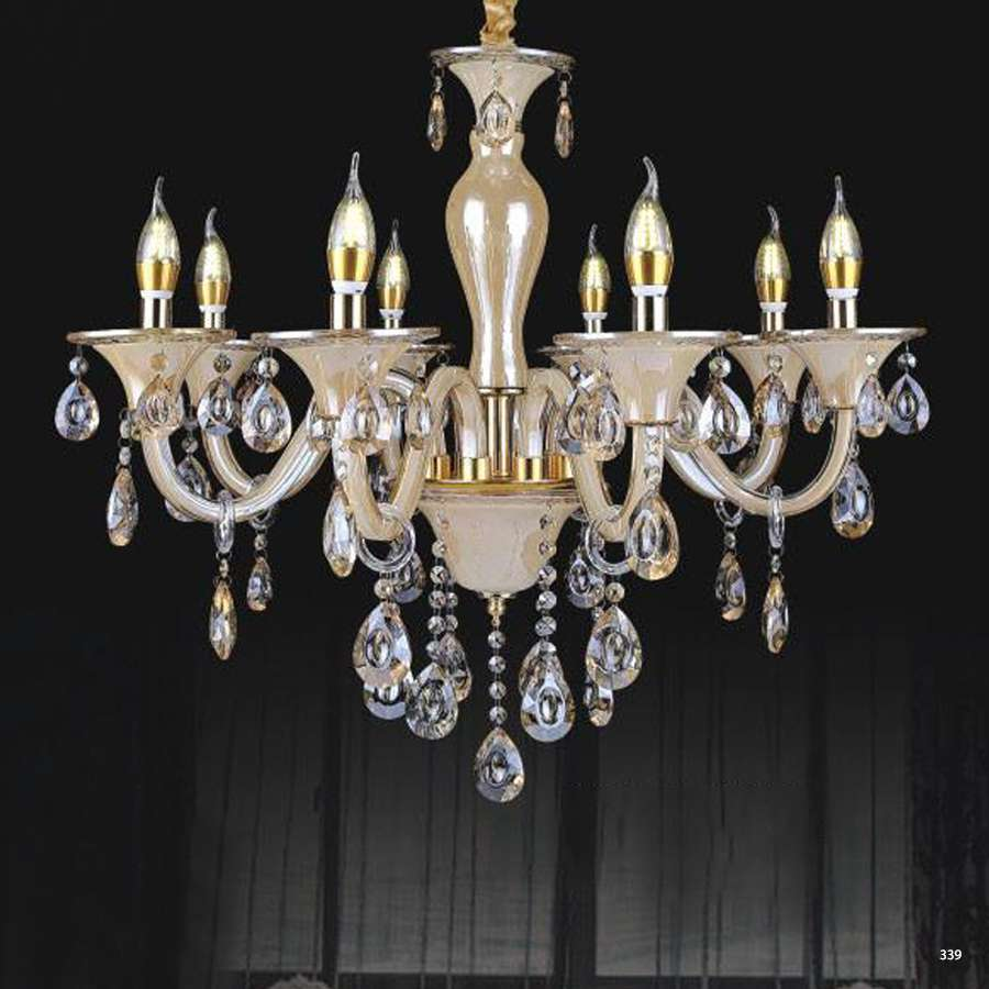 Đèn chùm nến trang trí hiện đại đèn bằng hợp kim và pha lê trong suốt cao cấp sang trọng PLN2008/8