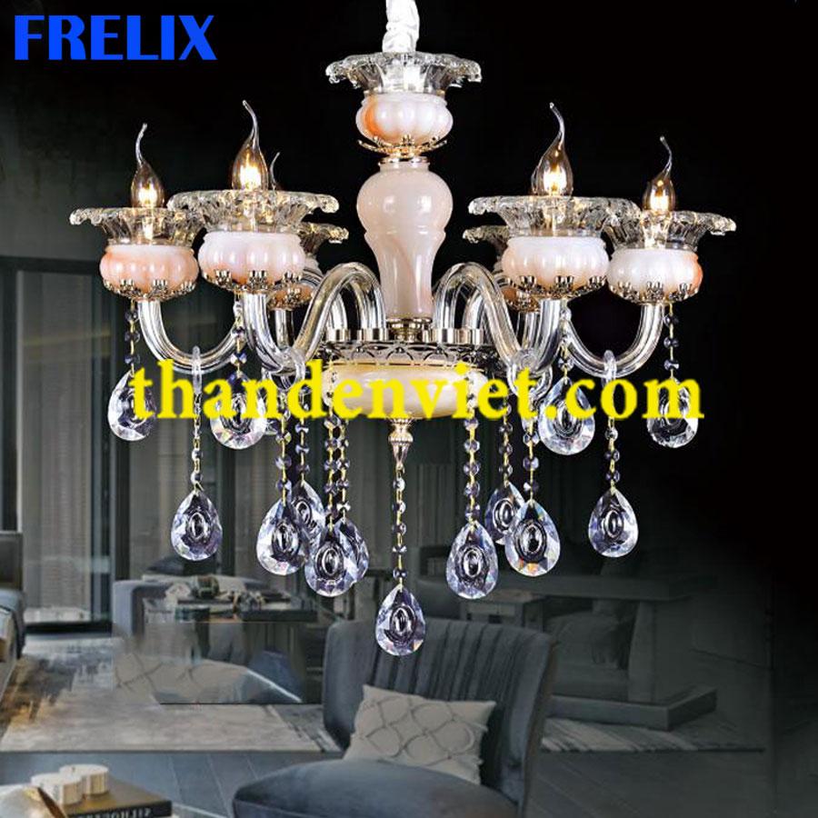 Đèn chùm pha lê nến trang trí phòng khách đẹp PLNY9036/6