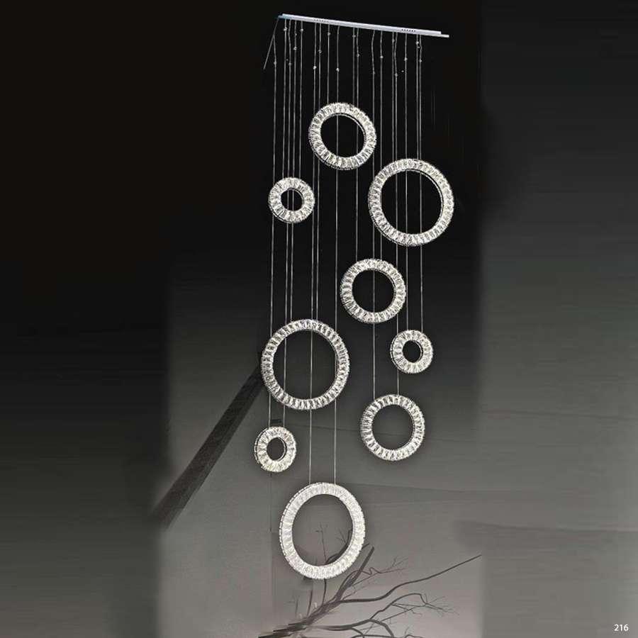 Đèn chùm pha lê trang trí có mâm inox cao cấp chống rỉ kết hợp với thiết kế mang phong cách hiện đại sang trọng giá rẻ nhất 7011