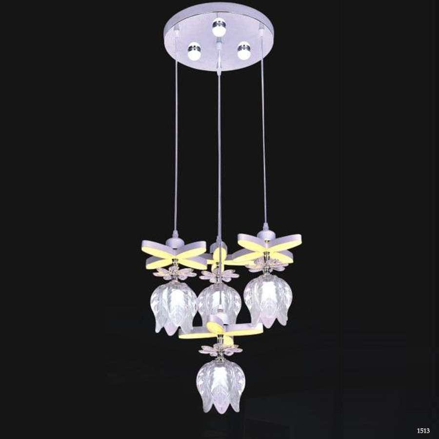 Đèn thả 4 bông hoa pha lê DCT1029-4