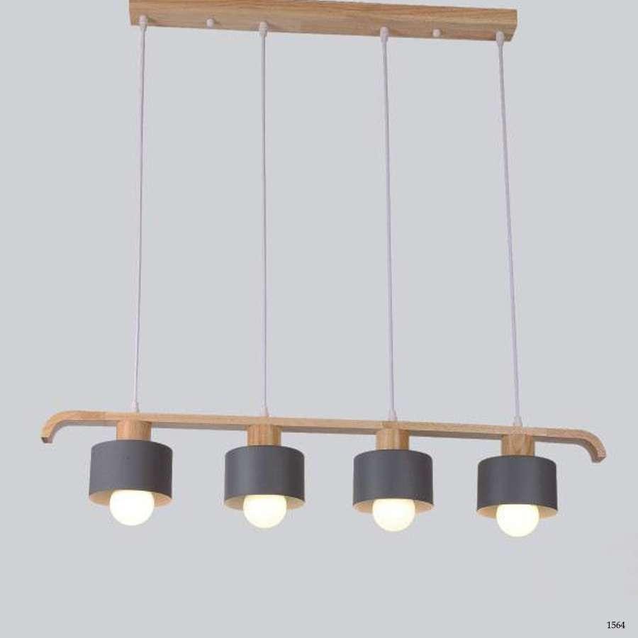 Đèn thả cổ điển 4 dây đèn mẫu đơn giản 6033-4GY