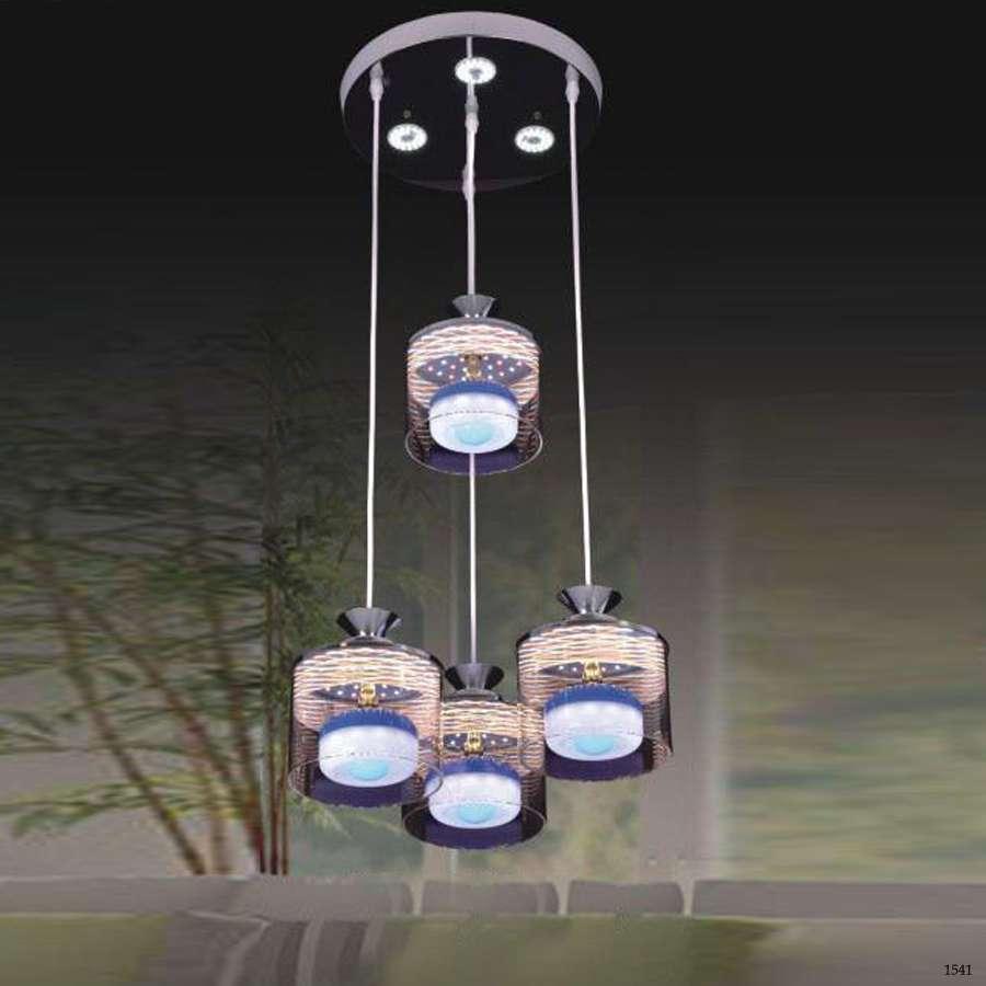 Đèn thả đèn led 4 dây pha lê giá rẻ 34776