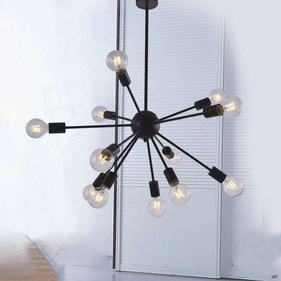 Đèn thả trang trí nghệ thuật 9 bóng đèn kiểu dáng sang trọng bắt mắt DY083-12