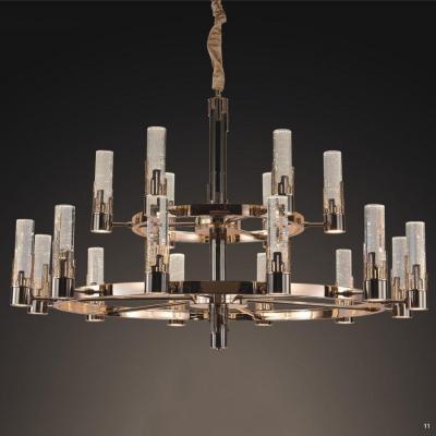 Đèn chùm 2 tầng với nhiều trụ pha lê hình cây nến 99816--12-6