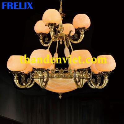 Đèn chùm cổ điển vàng đồng cao cấp 1199/12