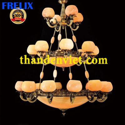Đèn chùm cổ điển vàng đồng cao cấp 1199/24