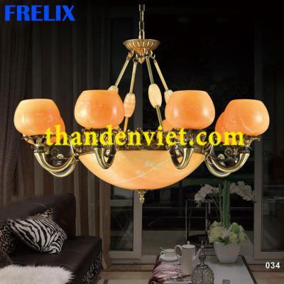 Đèn chùm cổ điển vàng đồng cao cấp 1199/8
