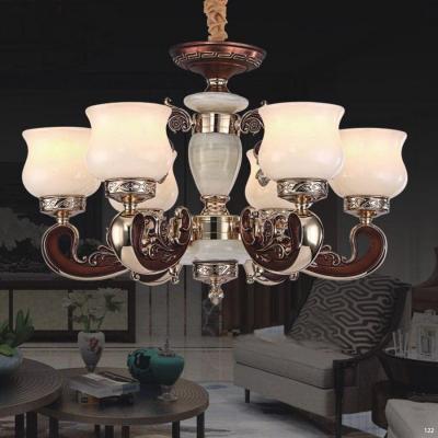 Đèn chùm đồng đá thân đèn bằng hợp kim đồng phong cách Châu Âu sang trọng giá rẻ nhất 8830/6