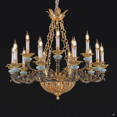 Đèn chùm đồng nến kiểu cổ điển sang trọng nhiều họa tiết 9057-10+5
