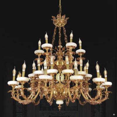 Đèn chùm đồng nến mạ vàng cao cấp 2 tầng 1241/30