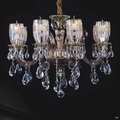 Đèn chùm hiện đại thân đèn bằng hợp kim cao cấp kết hợp với pha lê trong suốt đính nhiều họa tiết sang trọng PLN3007/6