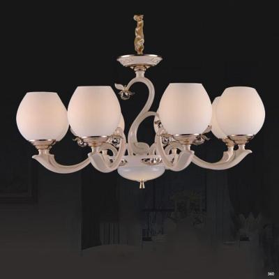 Đèn chùm hiện đại trang trí đèn bằng hợp kim cao cấp kèm họa tiết hoa nổi và chóa đèn bằng thủy tinh sang trọng 831/8