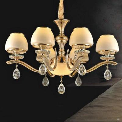 Đèn chùm hiện đại trang trí đèn bằng hợp kim cao cấp thiết kế họa tiết và chóa đèn bằng thủy tinh sang trọng PLN6322/6