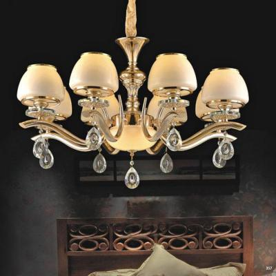 Đèn chùm hiện đại trang trí đèn bằng hợp kim cao cấp thiết kế họa tiết và chóa đèn bằng thủy tinh sang trọng PLN6322/8