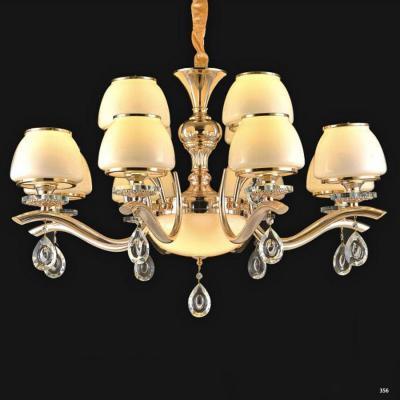 Đèn chùm hiện đại trang trí đèn bằng hợp kim cao cấp thiết kế họa tiết và chóa đèn bằng thủy tinh sang trọng PLN6322/8+4