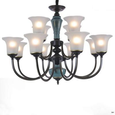 Đèn chùm hiện đại trang trí đèn bằng hợp kim cao cấp và chóa đèn bằng thủy tinh sang trọng giá rẻ nhất 2 tầng 5133/8+4