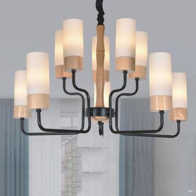 Đèn chùm hiện đại trang trí thân đèn bằng hợp kim sơn tĩnh điện và chóa đèn bằng thủy tinh cao cấp sang trọng 8033/10