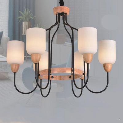 Đèn chùm hiện đại trang trí thân đèn bằng hợp kim sơn tĩnh điện và chóa đèn bằng thủy tinh cao cấp sang trọng 8039/6