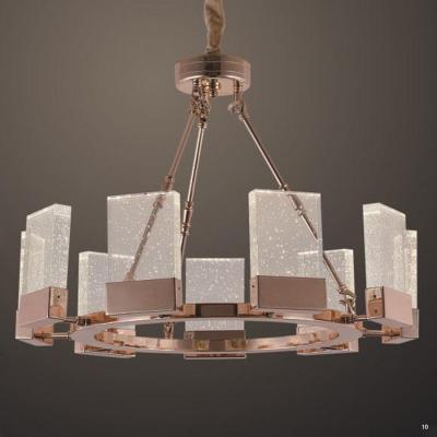 Đèn chùm kiểu dáng tròn pha lê trang trí hình chữ nhật 99813-9