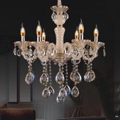 Đèn chùm nến hiện đại thân đèn bằng hợp kim và pha lê trong suốt cao cấp khắc nhiều họa tiết sang trọng giá rẻ nhất 9051/6