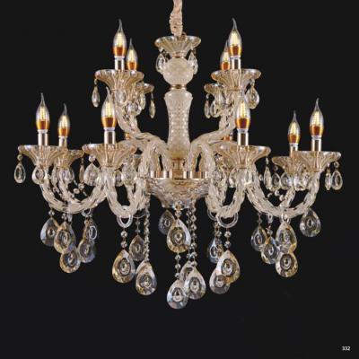 Đèn chùm nến hiện đại thân đèn bằng hợp kim và pha lê trong suốt cao cấp khắc nhiều họa tiết sang trọng giá rẻ nhất 9051/8+4