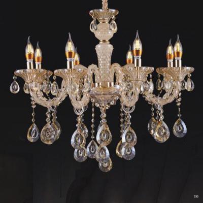 Đèn chùm nến hiện đại thân đèn bằng hợp kim và pha lê trong suốt cao cấp khắc nhiều họa tiết sang trọng giá rẻ nhất 9051/8