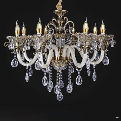 Đèn chùm nến mang phong cách Châu Âu thân đèn bằng hợp kim cao cấp chống rỉ và đính dây thả pha lê sang trọng PLNY14/8