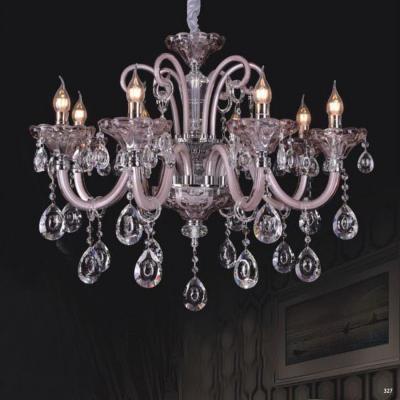 Đèn chùm nến mang phong cách Châu Âu thân đèn bằng hợp kim cao cấp và chóa đèn bằng pha lê khắc nhiều họa tiết sang trọng 9069-8