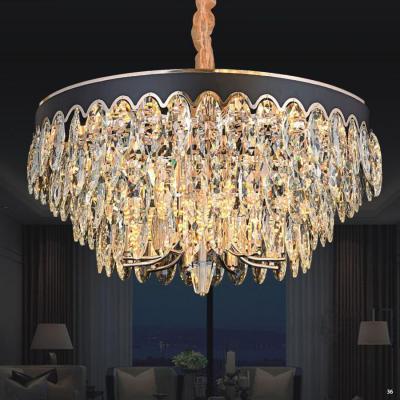 Đèn chùm pha lê cao cấp kiểu dáng sang trọng phù hợp trang trí khách sạn, nhà hàng cao cấp 8005