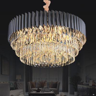 Đèn chùm pha lê cao cấp kiểu dáng sang trọng phù hợp trang trí khách sạn, nhà hàng cao cấp D8010-800