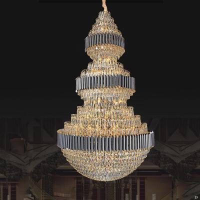 Đèn chùm pha lê cao cấp trang trí khách sạn nhà hàng cao cấp 8030