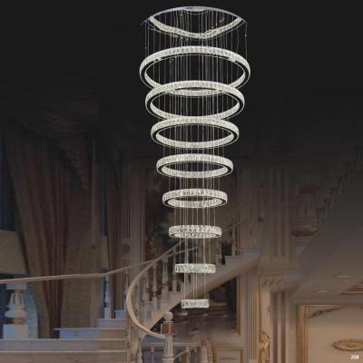 Đèn chùm pha lê có dây cáp điều chỉnh tạo dáng và chao đèn bằng pha lê cao cấp sang trọng giá rẻ nhất 9701