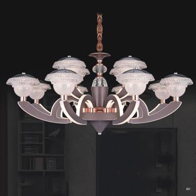 Đèn chùm pha lê hiện đại thân làm từ hợp kim cao cấp sơn tĩnh điện và chao đèn bằng pha lê sang trọng 9388-8+4