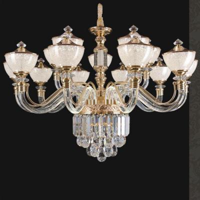 Đèn chùm pha lê kiểu dáng hiện đại tay cầm và chao đèn bằng pha lê cao cấp sang trọng 58907-15