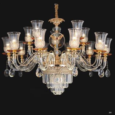 Đèn chùm pha lê kiểu dáng hiện đại tay cầm và chao đèn bằng pha lê thiết kế họa tiết sang trọng giá rẻ nhất 58916-15