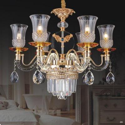 Đèn chùm pha lê kiểu dáng hiện đại tay cầm và chao đèn bằng pha lê thiết kế họa tiết sang trọng giá rẻ nhất 58916-6