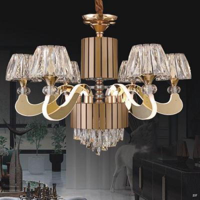 Đèn chùm pha lê led kiểu dáng hiện đại thân làm từ hợp kim không rỉ và chao đèn bằng pha lê cao cấp sang trọng giá rẻ nhất 9399-6