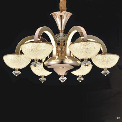Đèn chùm pha lê led thân làm từ hợp kim cao cấp không rỉ và chao đèn bằng pha lê sang trọng hiện đại 9020-6