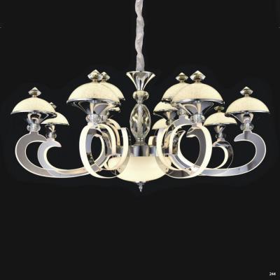 Đèn chùm pha lê led thân làm từ hợp kim cao cấp không rỉ và chao đèn bằng pha lê sang trọng hiện đại 9032-12