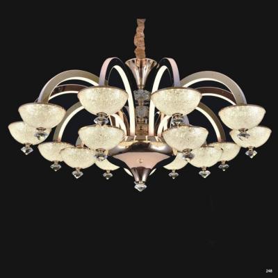 Đèn chùm pha lê led thân làm từ hợp kim cao cấp không rỉ và chao đèn bằng pha lê sang trọng hiện đại giá rẻ nhất 9020-15