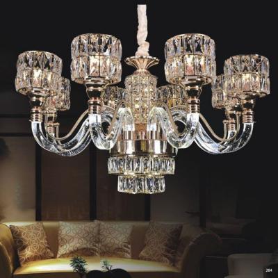 Đèn chùm pha lê mang phong cách hiện đại thân đèn bằng hợp kim cao cấp và chao đèn bằng pha lê khắc họa tiết sang trọng 58332-8