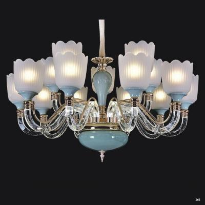 Đèn chùm pha lê mang phong cách hiện đại thân đèn bằng hợp kim chống rỉ cao cấp tay cầm và chao đèn bằng pha lê sang trọng 5889-15