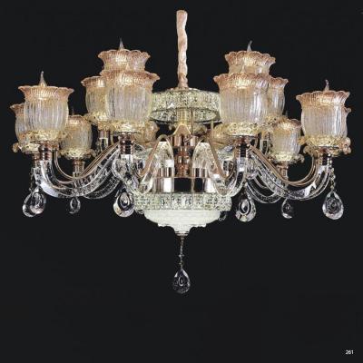 Đèn chùm pha lê nến thân đèn bằng hợp kim cao cấp kết hợp với pha lê trong suốt sang trọng hiện đại 58068-15