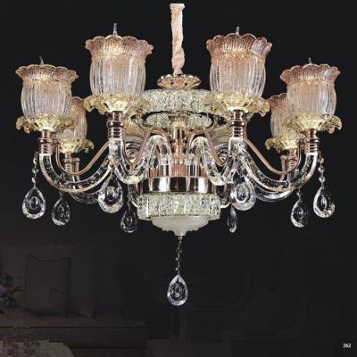 Đèn chùm pha lê nến thân đèn bằng hợp kim cao cấp kết hợp với pha lê trong suốt sang trọng hiện đại 58068-8
