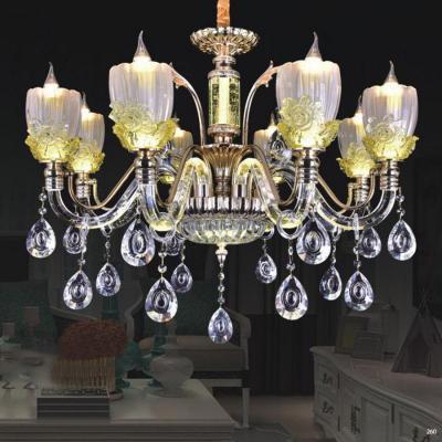 Đèn chùm pha lê nến thân đèn bằng hợp kim cao cấp kết hợp với pha lê trong suốt sang trọng hiện đại PLN9906/8