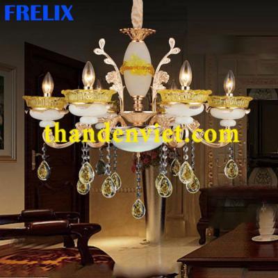 Đèn chùm pha lê nến trang trí phòng khách đẹp giá sốc 9909/6