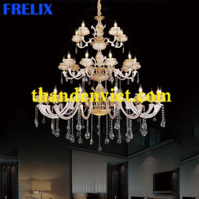 Đèn chùm pha lê nến trang trí phòng khách hiện đại 6010/30