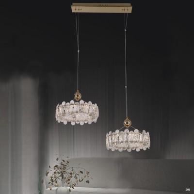 Đèn chùm pha lê thiết kế Châu Âu chao đèn bằng pha lê cao cấp sang trọng giá rẻ nhất 7030-72 +1D