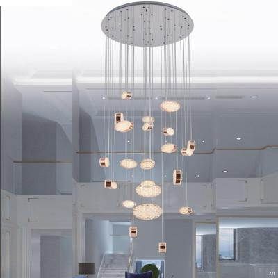 Đèn chùm pha lê trang trí có mâm inox cao cấp chống rỉ kết hợp với thiết kế mang phong cách Châu Âu sang trọng D58002-25