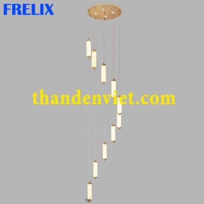 Đèn chùm thả led pha lê kiểu dáng hiện đại 2001-10